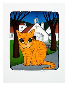 František Pon - Žlutá kočka