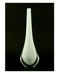 Skleněná váza Gocce Latte 35 cm