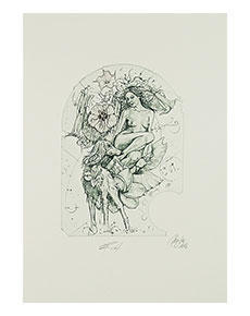 Günter Hujber - Žena, zvíře a květina (soubor 2 ks)