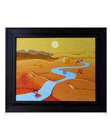 Josef Velčovský - Meandrující řeka v krajině s dunami