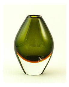 Skleněná váza Oliva Verde 17 cm
