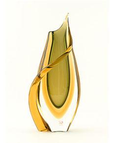 Skleněná váza Sbruffi Ambra 34 cm