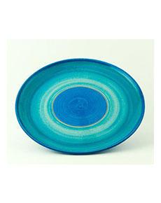 Keramický talíř Rometti Solar I modrý