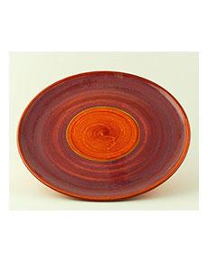 Keramický talíř Rometti Solar I červený