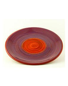 Keramický talíř Rometti Solar II červený