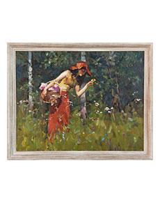 Vladimir Trush - Dívka s květinou