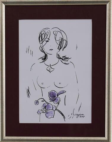 Antonín Vojtek - Akt s květinou
