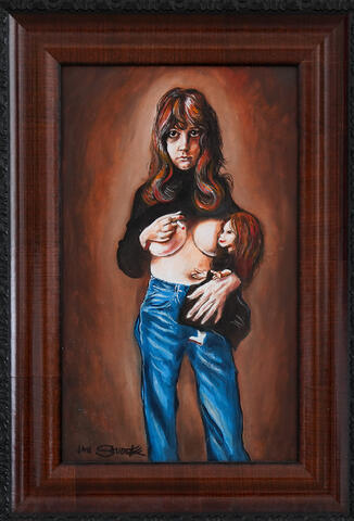 Jan Saudek - Dívka s cigaretou