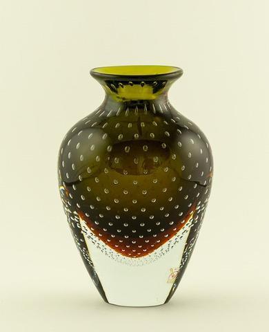 Skleněná váza Brenda Verde 21 cm