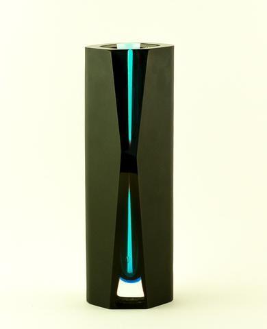 Ručně broušená váza Cripton z muránského skla