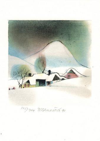 Daniela Benešová - Vesnice v zimě