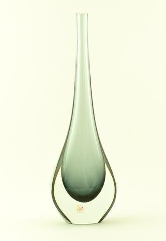 Skleněná váza Gocce Fume 40 cm