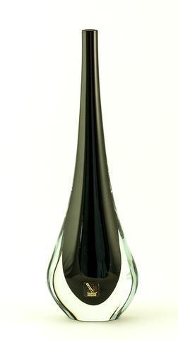 Skleněná váza Gocce Nero 35 cm