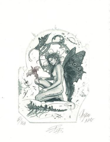 Günter Hujber - Dívka s motýly