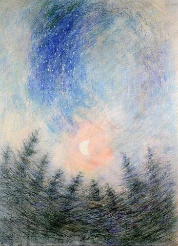 Josef Ruszelák - Měsíčná noc (reprodukce 2/20)