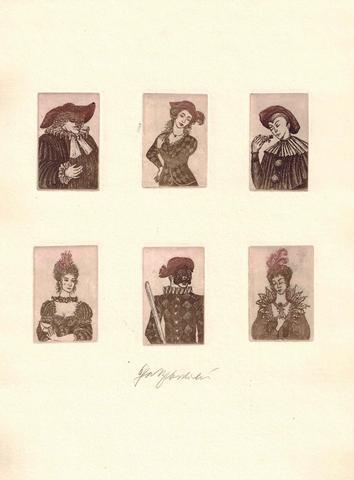 Olga Vychodilová - Karneval, soutisk