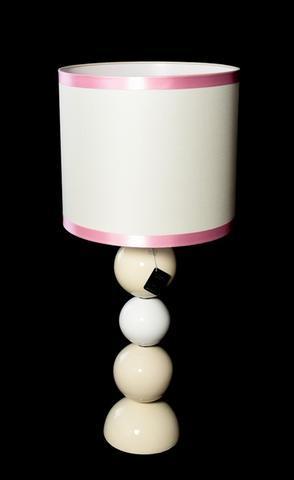 Stolní lampa Perlage bílá, béžová 45/90