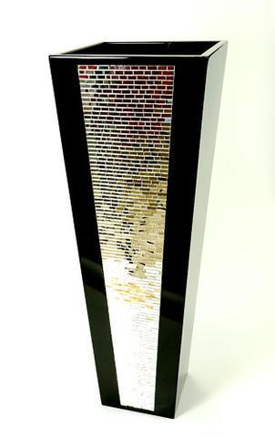 Ručně vyrobená váza Cachaeira černá - 1