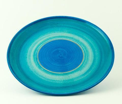 Keramický talíř Rometti Solar I modrý - 1