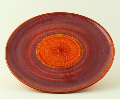 Keramický talíř Rometti Solar I červený - 1