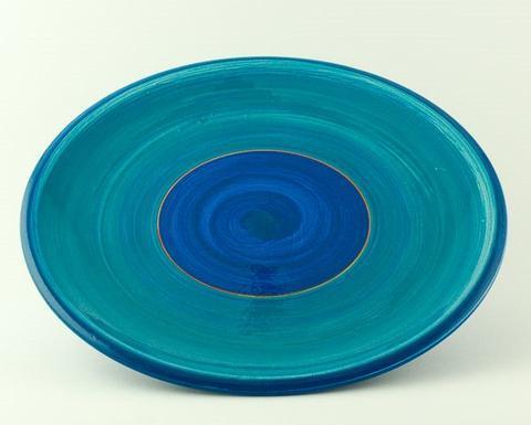 Keramický talíř Rometti Solar II modrý - 1