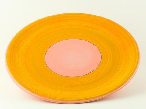 Keramický talíř Rometti Solar II růžový - 1