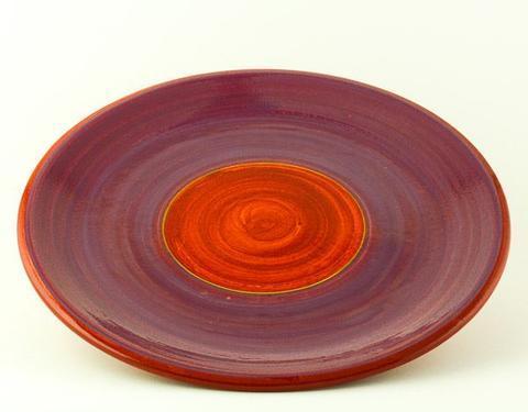 Keramický talíř Rometti Solar II červený - 1