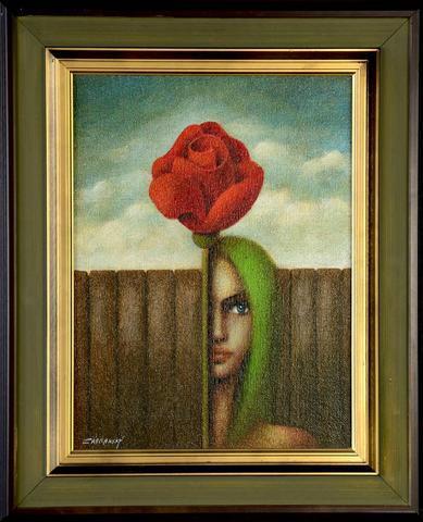 Vlastimil Zábranský - Dívka s růží
