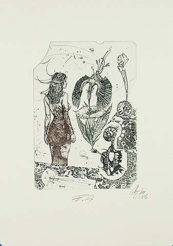 Günter Hujber - Žena, zvíře a květina (soubor 2 ks) - 2