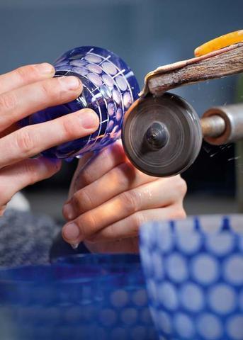 Sklenice Lotosperle ručně broušená 230 ml  - 3