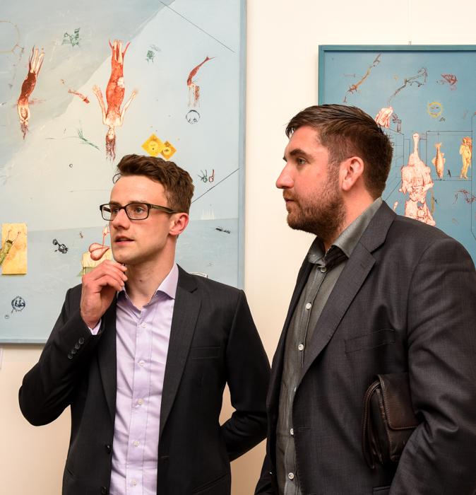 Vernisáž Güntera Hujbera v galerii DioArt
